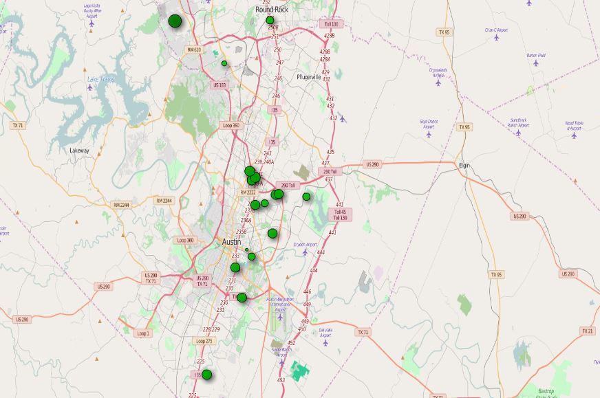 Map Of Texas Austin.Central Texas Austin Heat Map 1 Virtual Real Estate Investing